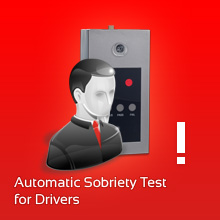 Automatic sobriety test for driving personnel